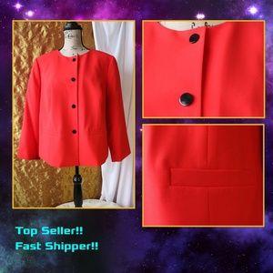 Nine West Red Blazer Jacket